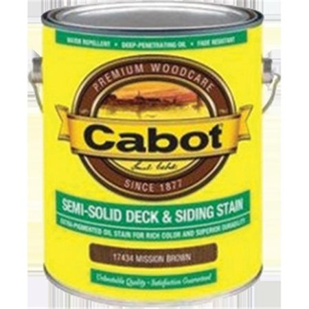 Semi-Solid Deck & Siding Stain (VOC) Mission Brown - Gallon - Pack of