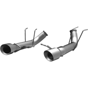 MagnaFlow 13 Ford Mustang Dual Split Rear Exit Stainless Axle-Back Cat Back Exhaust (Competition)