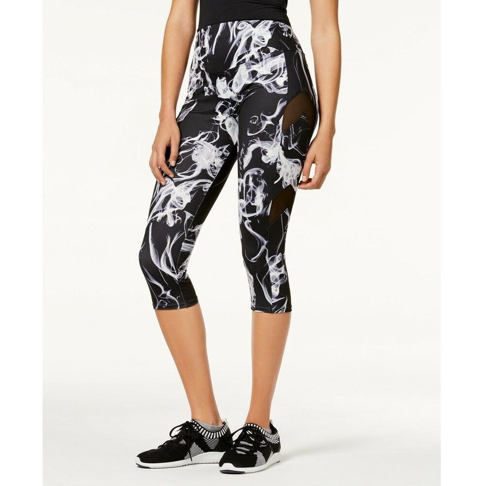 Material Girl Active Juniors Palm-Printed Yoga Leggings