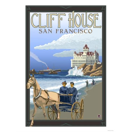 Cliff House, San Francisco, California Print Wall Art By Lantern