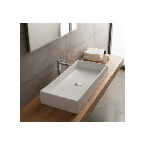 Scarabeo by Nameeks Teorema Ceramic Rectangular Vessel Bathroom Sink