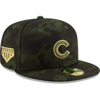 Chicago Cubs New Era MLB Armed Forces Day On-Field 59FIFTY Fitted Hat - Camo