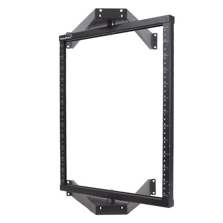 Pivoting Wall Mount Rack - NavePoint 12U Flat Pack wall Mount Pivoting Open Frame Low Profile Network Server Rack