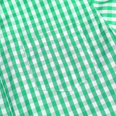 Men's Oktoberfest Costumes Long Sleeve Shirt Fashion Plaid Front Pocket Classical Shirt Tops Color:Green Size:S - image 4 of 8