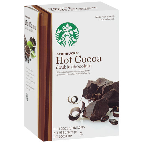 Starbucks Double Chocolate Hot Cocoa Mix, 8 count