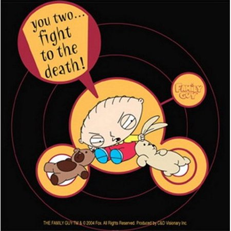 Family Guy Stewie Fight To The Death Sticker S-FG-0016