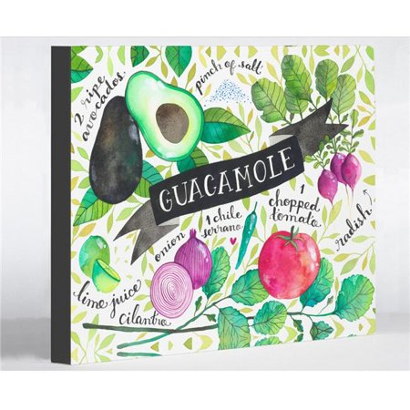 One Bella Casa 72697WD8 8 x 10 in. Guacamole Recipes Canvas Wall Decor by Ana Victoria Calderon, Multicolor - Guacamole Halloween Recipe