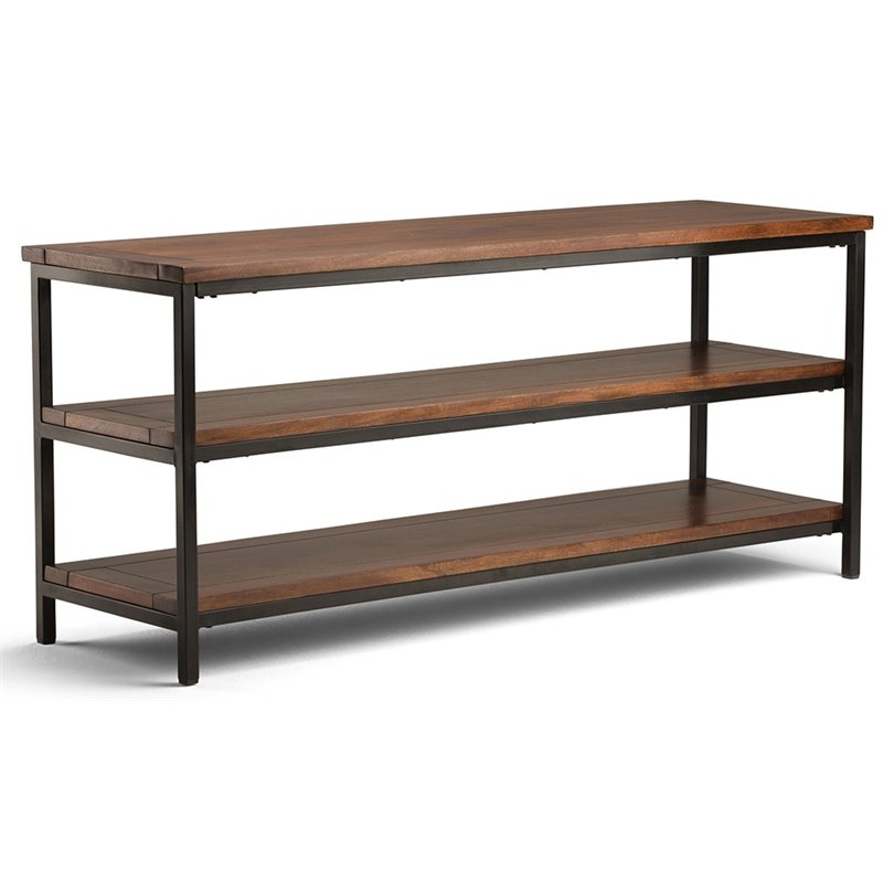 "Atlin Designs 60"" TV Stand in Dark Cognac Brown"