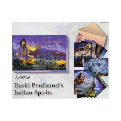 Indian Spirits by David Penfound [AST90638] Blank Native American Card Assortment by Leanin' Tree - 20 cards with full-c