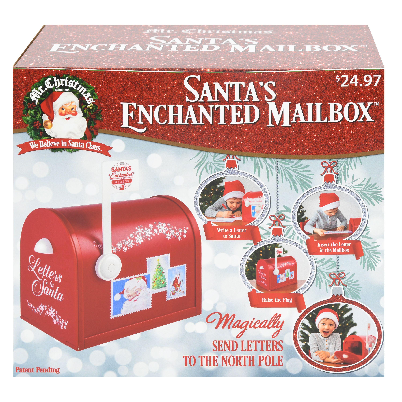 Mr Christmas Multicolor Santa S Enchanted Mailbox Decoration Walmart Com Walmart Com