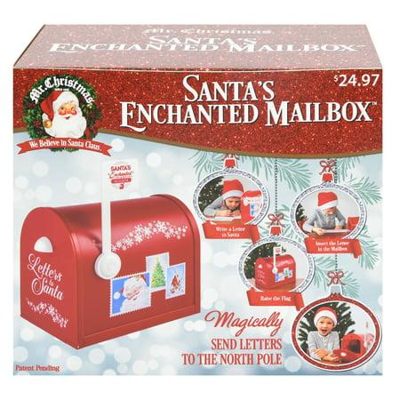 Christmas Multicolor Santa's Enchanted Mailbox Decoration
