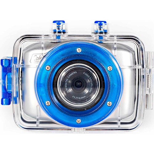 """Coleman CX5HD Silver HD Waterproof Action Camera with 2"""" Touchscreen LCD and Wide-angle Lens"""