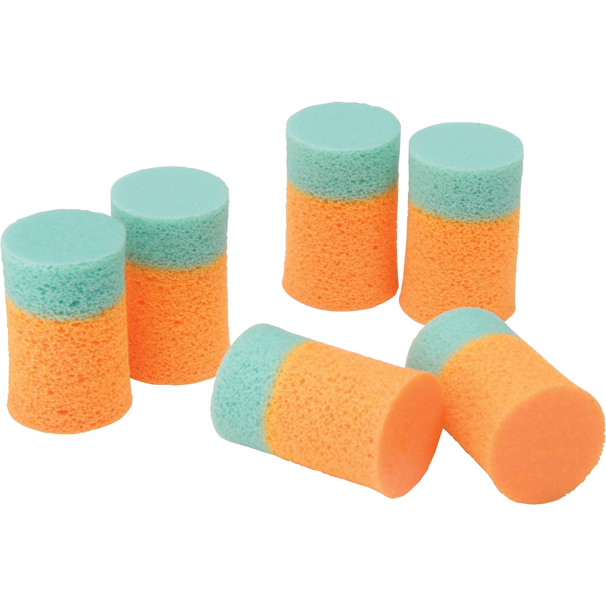 SKILCRAFT, NSN1376345, Hearing Protection Earplug, 400 / Box, Light Green,Fluorescent Orange