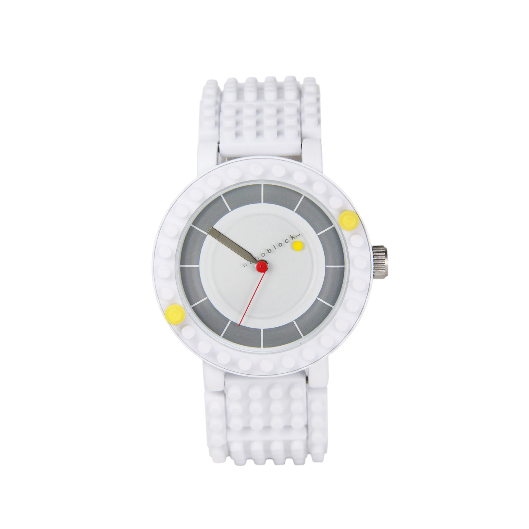 Nanoblocktime All Rounder Watch, White by Beta Enteprises Inc.