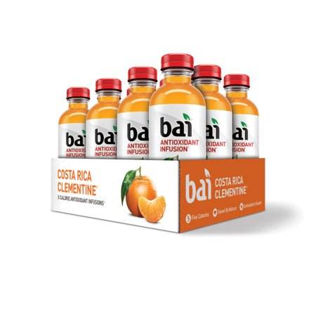 Bai Antioxidant Infused Beverage, Costa Rica Clementine, 18 Fl Oz, 12 Count](Orange Alcoholic Drinks Halloween)