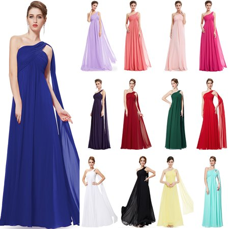 Ever-Pretty Womens Elegant One Shoulder Long Maxi Evening Party Bridesmaid Dresses for Women 9816 Burgundy US