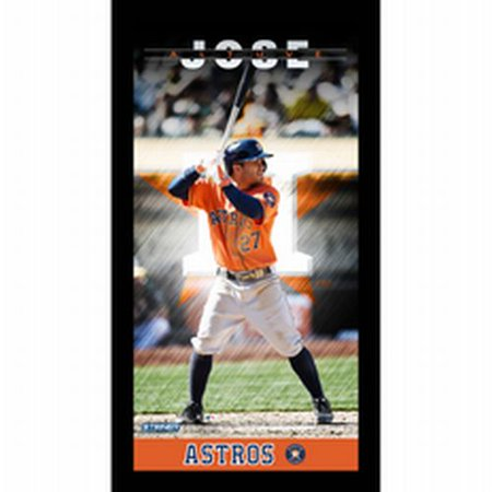 Houston Astros Jose Altuve Player Profile Wall Art 9.5x19 Framed Photo - image 1 de 1
