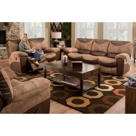 Catnapper portman reclining 3 piece sofa set in saddle and for Catnapper cloud nine chaise recliner