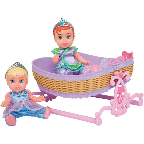 Disney Princess Twin Dolls with Accessory, Cinderella/Ariel