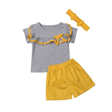 f857f16a3 XIAXAIXU - Brother and Sister Matching Summer Clothes Baby Boys Girls  Ruffle Tops T-Shirt Shorts Outfits - Walmart.com