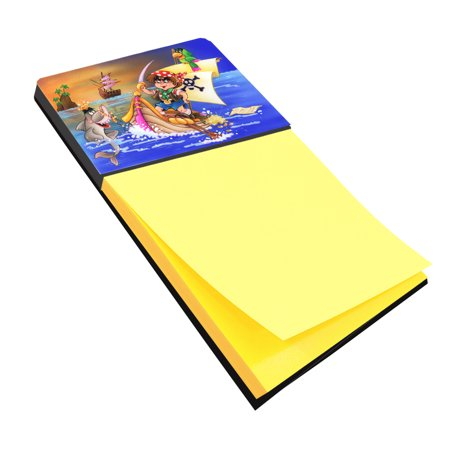 Boy Playing Piriate with Dolphin Sticky Note Holder APH6105SN
