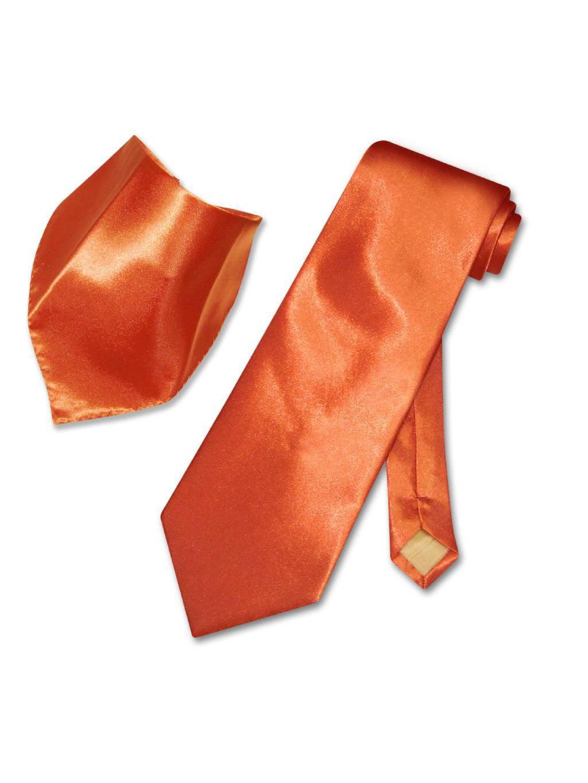 Clearance Sale Men/'s Solid Neck Tie Set Necktie And Pocket Square Hanky Set