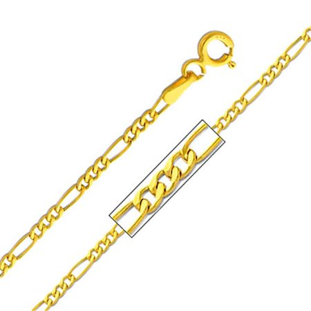 Jewelry 14k Yellow Gold 1.9-mm Figaro Chain Necklace (18 inch) - image 1 of 1