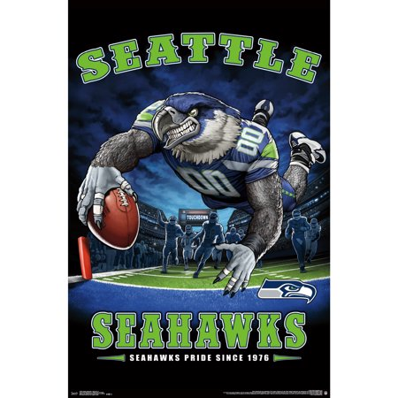 Seattle Seahawks Liquid Blue Designs 22'' x 34'' End Zone Poster - No Size (Seattle Show Posters)