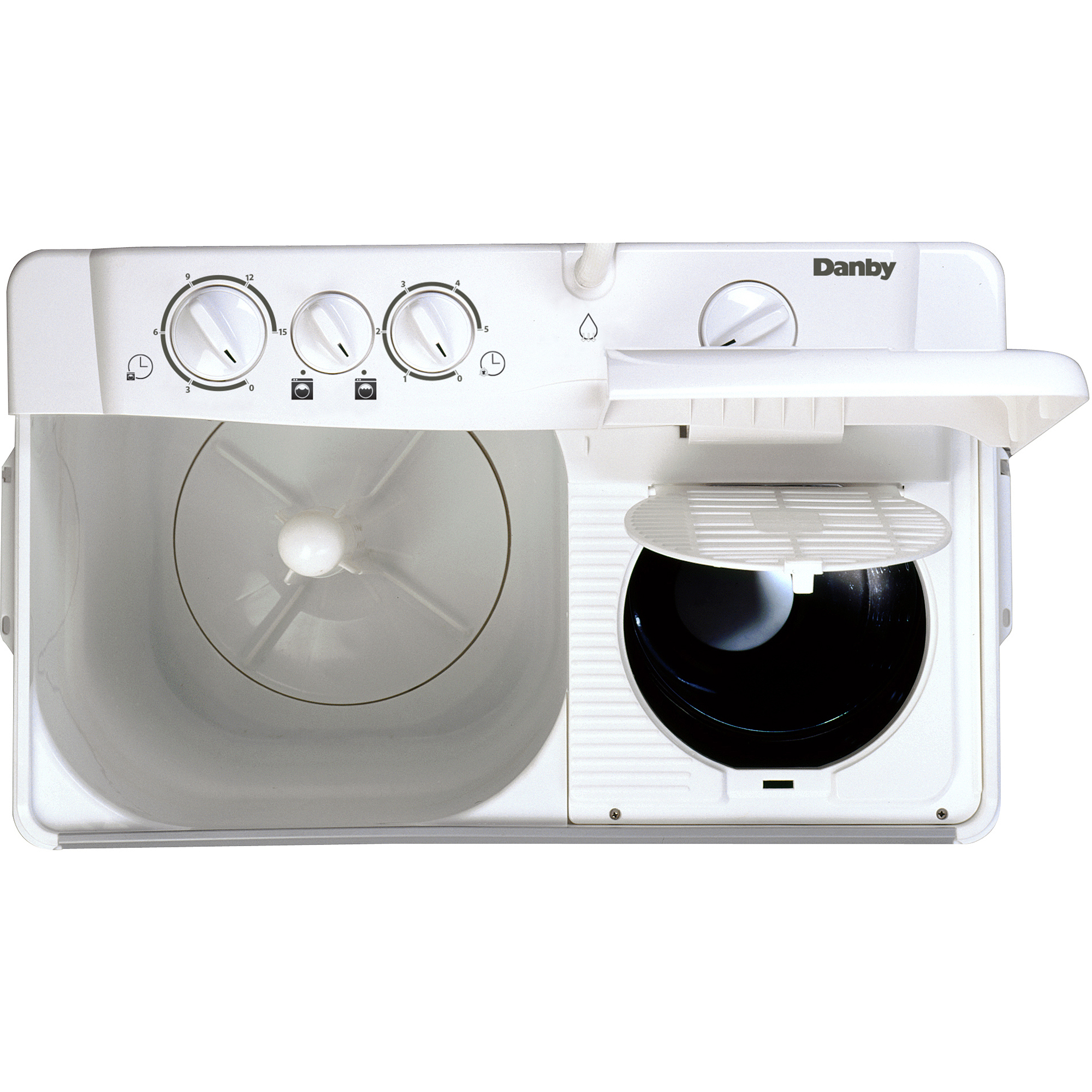 Danby 2.26 cu ft Twin Tub Washing Machine with Spin Dry, White