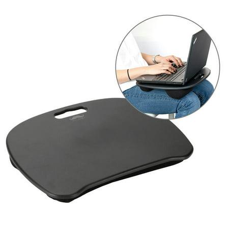 Moustache Ergonomic Design Lap Top Desk with Cushion, Laptop Lapdesk, Black - image 2 of 8