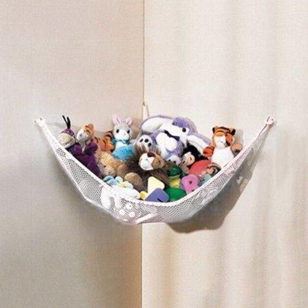 - White Poly Worldwide Hanging Toy Hammock Net Deluxe Pet Organize Corner Stuffed Animals Toys baby kids Toy Hammock,