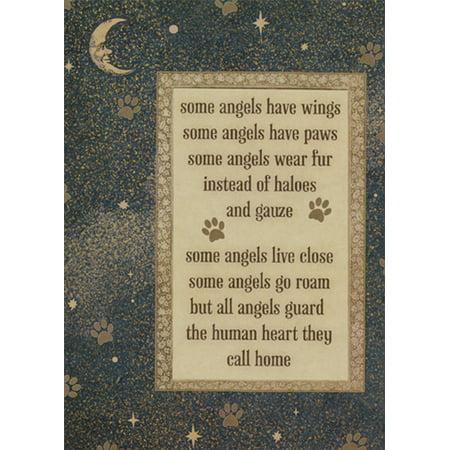 Tree-Free Greetings Pet Angels Pet Sympathy Card Angel Cat Greeting Card