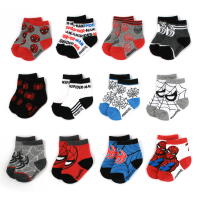Marvel Spiderman Assorted Color 12 Pair Socks Set, Baby Boys, Age 0-24M