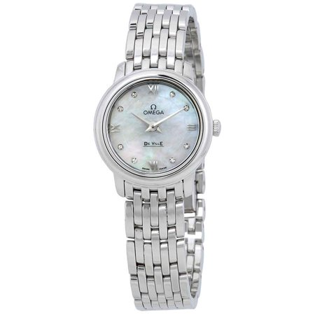 Omega De Ville Prestige Mother of Pearl Dial Ladies Watch 424.10.24.60.55.001