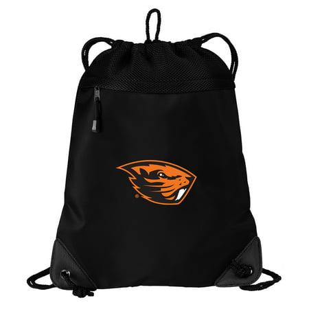 Oregon State University Drawstring Bag TWO SECTION OSU Beavers Cinch Pack Backpack - Unique Mesh & Microfiber