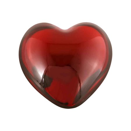 Baccarat Crystal Red Puffed Heart Paperweight