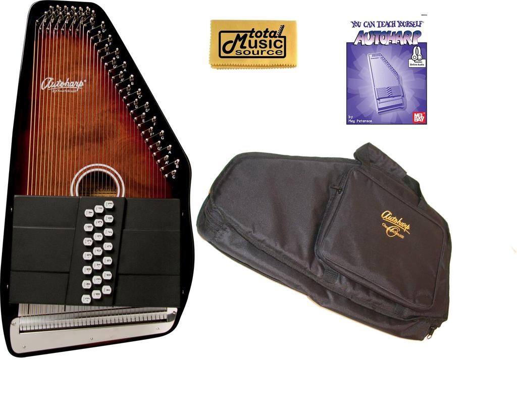 Oscar Schmidt 21 Chord 11 Key A E Autoharp, Select Maple, OS21CE AC445PACK by Oscar Schmidt