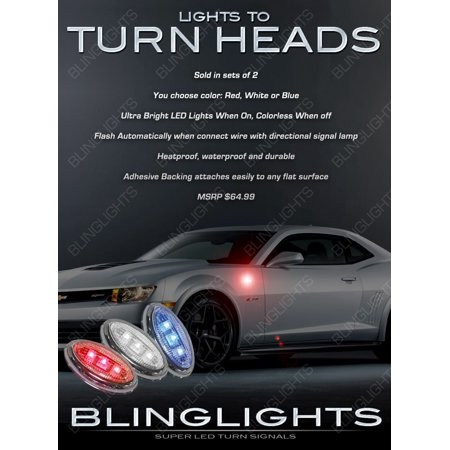 Chevy Camaro LED Flushmount Side Marker Light Lamp Turn Signal Accent Kit ()