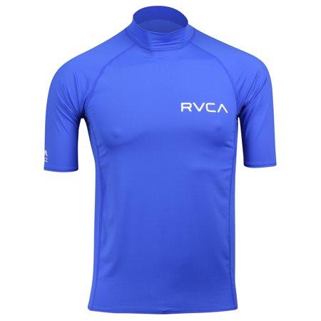 Rvca Va Sport Short (RVCA Mens VA Sport Solid Short Sleeve Compression Shirt - Surf)