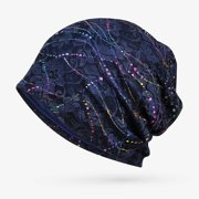 KABOER Muslim Women Colorful Lace Hollow Out Breathable Cancer Chemo Hat Turban Head Wrap Stretch Slouchy Beanie