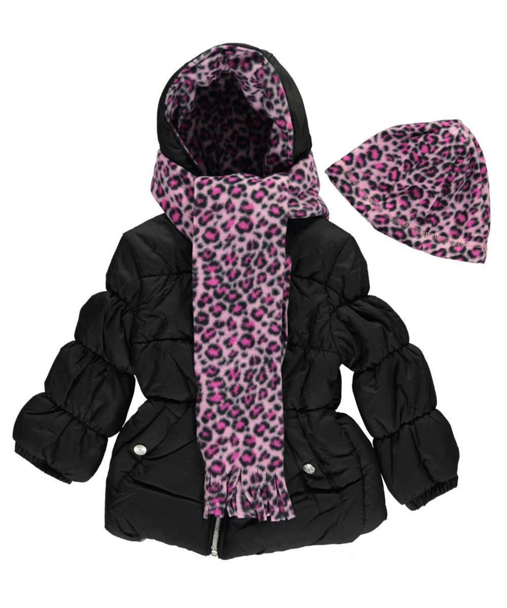 "Pink Platinum Little Girls' ""Blanca"" Insulated Jacket with Accessories (Sizes 4 - 6X)"