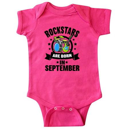Rockstars are Born in September Birthday Infant - Birthday Rockstar
