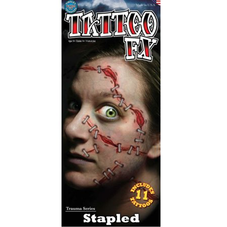 Tinsley Tattoo FX Halloween Costume Makeup Stapled Temporary Tattoo](Halloween Eye Tattoo)