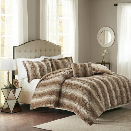 Home Essence Marselle Faux Fur Down Alternative Comforter Set