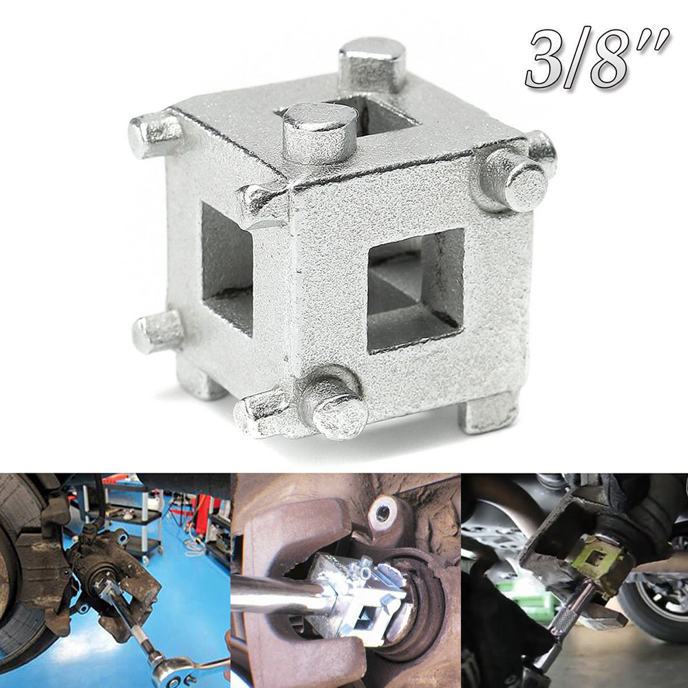 Xbes 3//8 Drive Disc Brake Piston Remover Tool Wind Back Caliper Removal Cube Tool