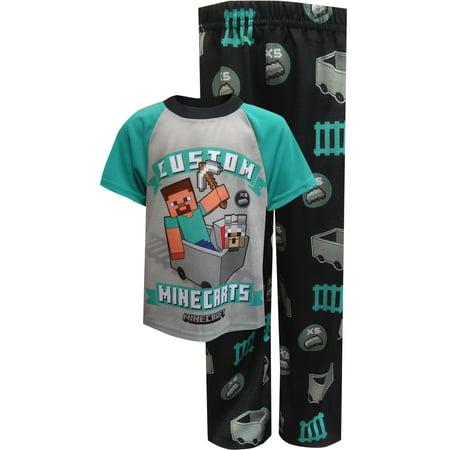 Minecraft Steve's Custom Minecarts Pajamas