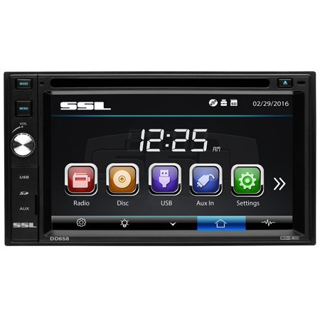 "Sound Storm Laboratories DD658 Double-DIN 6.2"" Touchscreen DVD Player"