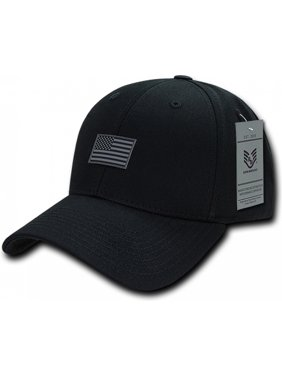 b6701f77b Product Image RapDom USA Structured Small Rubber Flag Mens Cap  Black -  Adjustable