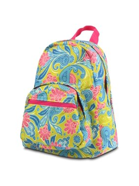 8954442eaa Product Image Kids Backpack School Bag by Zodaca Small Bookbag Shoulder  Children - Green Pink Paisley