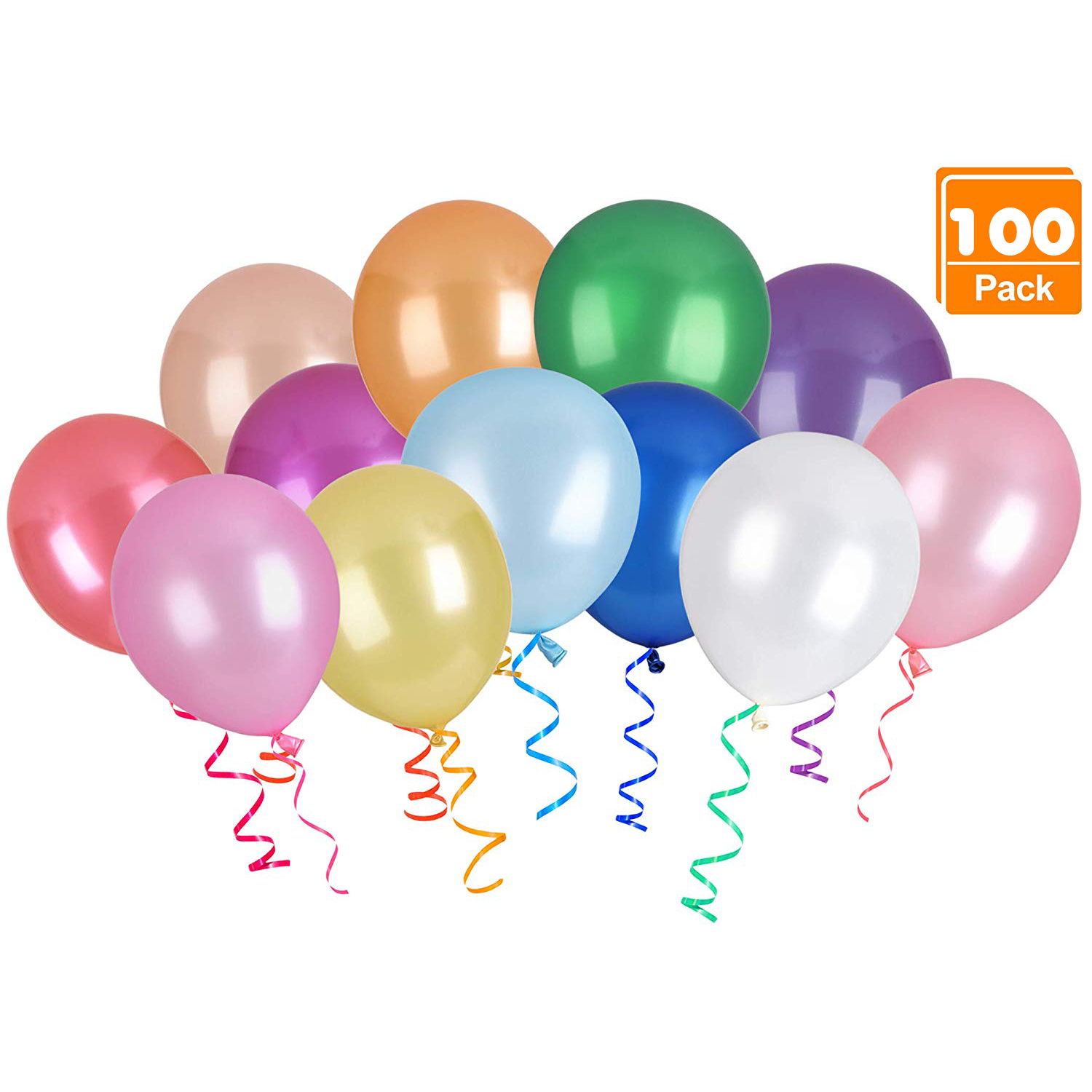 100PACK Party Balloons for Birthday, Graduation, Parties, Weddings, Baby Shower, Decoration